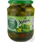 Vegetables cucumber Khutorok pickled 720g