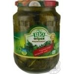 Vegetables cucumber Rio whole 720ml glass jar Ukraine