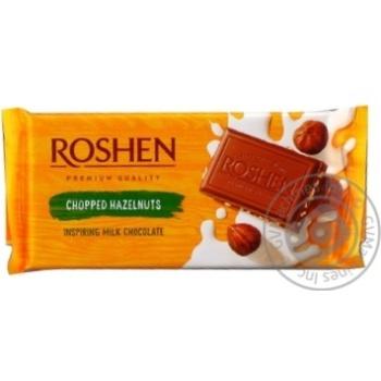 Шоколад Roshen Classic молочный с измельченными лесными орехами 90г