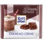 Шоколад молочный Ritter Sport c начинкой какао-крем 100г
