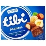 Конфеты Рошен Tibi Pralines Chopped nuts&Nut cream Milk cream 117г