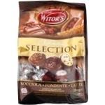 Цукерки Witor's Classic Selection асорті праліне з чорного та молочного шоколаду з начинкою 250г