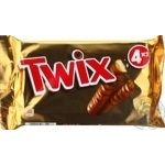 Twix in milk chocolate cookies 4*50g