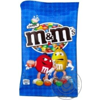 M&M's dragee with rice balls in milk chocolate 77g