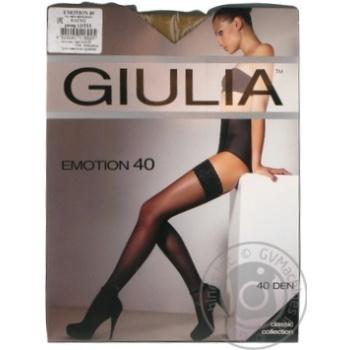 Чулки Giulia Emotion daino женские 40ден 1/2р - купить, цены на Novus - фото 1