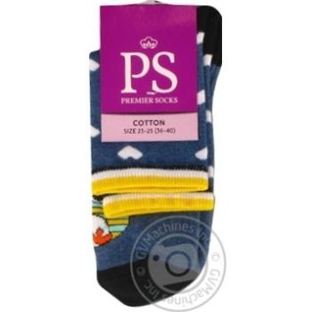 Шкарпетки жіночі класичні Premier Socks 14В35/1 розмір 23-25 синій