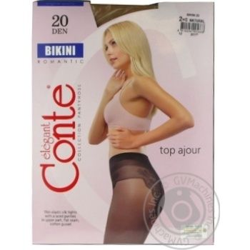 Tights Conte natural polyamide for women 20den 2size - buy, prices for Novus - image 8
