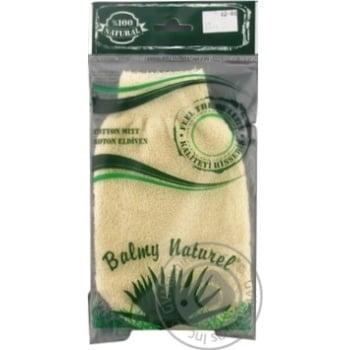 Мочалка-рукавичка Balmy Naturel 12022 - купить, цены на МегаМаркет - фото 1