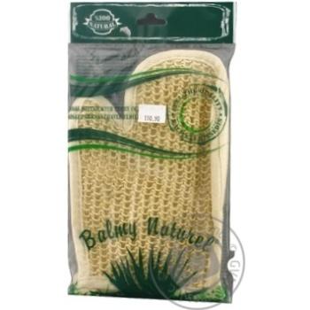 Мочалка-рукавичка махрова з пальцем Balmy Naturel - купити, ціни на Novus - фото 1
