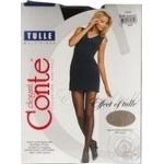 Колготки жіночі Conte Elegant Tulle 30 den розмір 4, nero