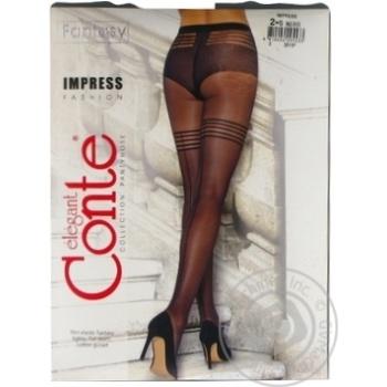 Колготки жіночі Conte Elegant Fantasy Impress 20 den розмір 2, nero - купити, ціни на Novus - фото 1