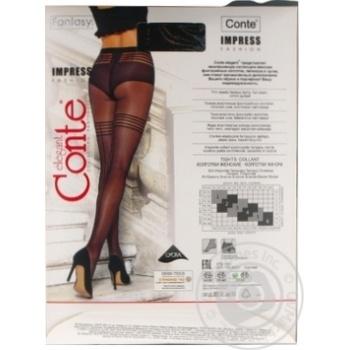 Колготки жіночі Conte Elegant Fantasy Impress 20 den розмір 2, nero - купити, ціни на Novus - фото 4