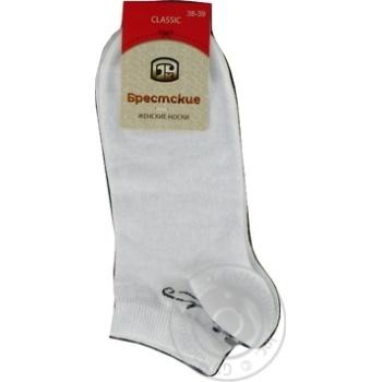 Brestskie Classic White Women's Socks 25s