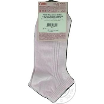 Шкарпетки жіночі бавовняні Classik короткі розмір 25 016 світло-рожевий - купить, цены на Novus - фото 4