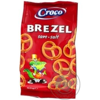Брецелі Croco солоні 80г - купити, ціни на МегаМаркет - фото 1