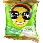 KartoFan with a taste of sour cream and greens potato chips 70g