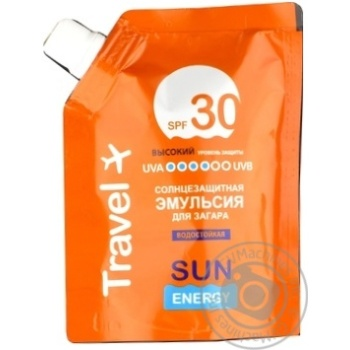 Эмульсия Sun Energy для загара SPF30 90мл - купить, цены на Метро - фото 1