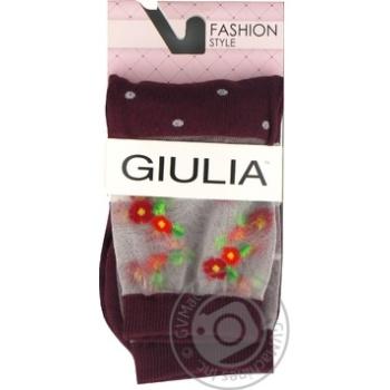 Шкарпетки жіночі GIULIA WSM-015 calzino, marsala-36-38