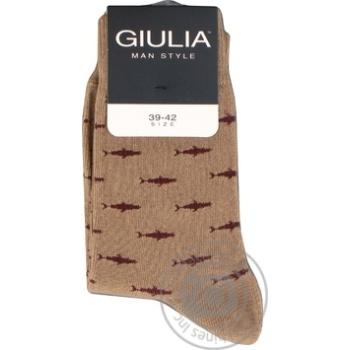 Шкарпетки чоловічі GIULIA MSL-009 calzino (2 р-ра), beige-39-42 - купить, цены на Novus - фото 1