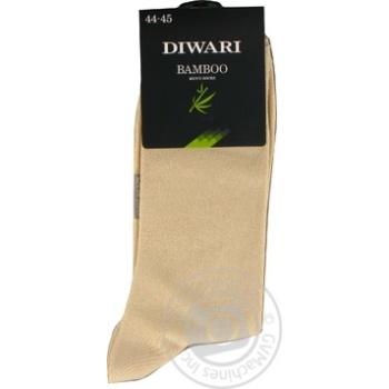 Шкарпетки чоловічі DiWaRi Bamboo 000 бежевий р.29 шт