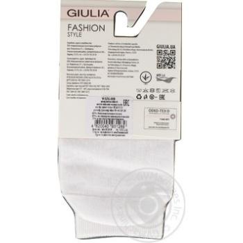 Шкарпетки жіночі WSM-008 bianco,39-40 GIULIA - купить, цены на Novus - фото 2