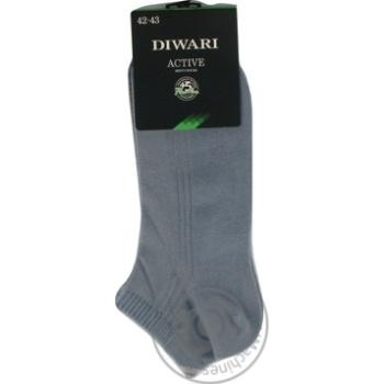 Шкарпетки чол Diwari ACTIVE короткі р.27 018 св.джинс пара - купити, ціни на Novus - фото 3