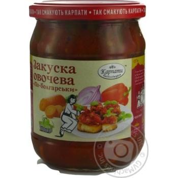Закуска овощная Карпати Насолоджуйся По-болгарски 480г