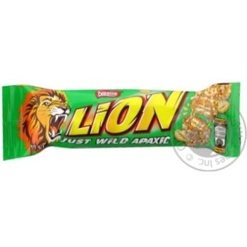 Батончик шоколадный Nestle Lion Just Wild арахис 30г