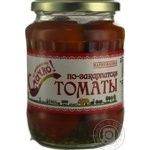 Vegetables tomato Smachno tomato pickled 720ml glass jar Ukraine