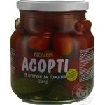 Vegetables tomato cornichon Novus Private import pickled 550g