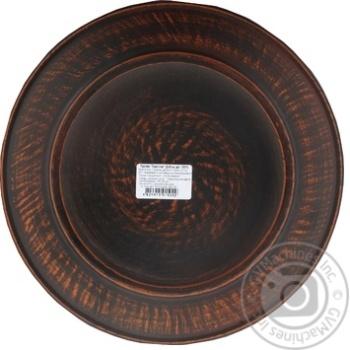 Тарілка червона глина 25см - купити, ціни на МегаМаркет - фото 2
