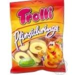 Конфеты Trolli Персиковые кольца фруктовые жевательные 200г