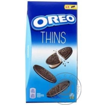 Печенье Oreo тонкое с какао со вкусом ванили 192г - купить, цены на Novus - фото 2
