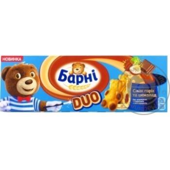 Тістечко бісквітне Барні смак горіх та шоколад 150г - купити, ціни на Novus - фото 1