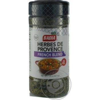 Приправа прованские травы Badia Французская смесь 42,5г - купить, цены на Novus - фото 1