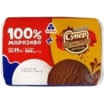 Мороженое Рудь: 100% мороженое + мороженое Супершоколад в лотке 500г