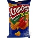 Чіпси картопляні з паприкою Crunchips x-cut 75г