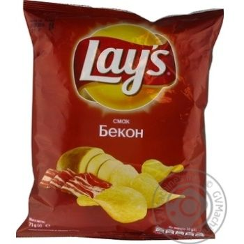 Чипсы Lay's со вкусом бекона 71г