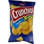 Чіпси картопляні з сіллю Crunchips x-cut 75г