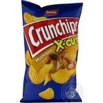 Чіпси картопляні зі смаком грибів Crunchips x-cut 75г