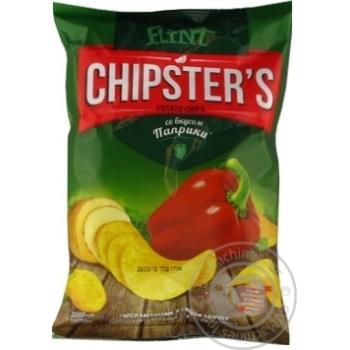 Чіпси Flint Chipster's картопляні зі смаком паприки 70г Україна - купити, ціни на Novus - фото 3