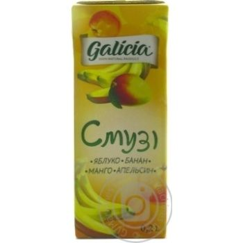 Galicia Smoothie Apple-Banana-Mango-Orange juice 200ml - buy, prices for Auchan - image 2