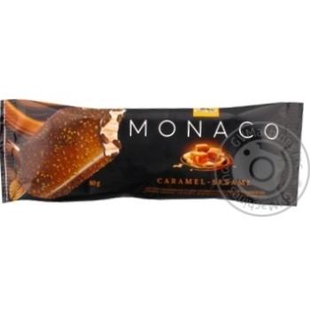 Мороженое Три Медведя Monaco Карамель-кунжут в глазури на палочке 80г