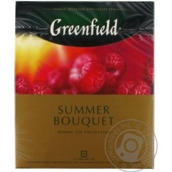Чай Greenfield Summer Bouquet травяной мелкий со вкусом и ароматом малины в пакетиках 100*2г
