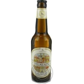 Пиво Вільнюс Алус світле нефільтроване пастеризоване скляна пляшка 5.2%об. 330мл Литва - купити, ціни на Novus - фото 1
