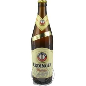 Пиво Erdinger пшеничное светлое 0,5л - купить, цены на Novus - фото 1