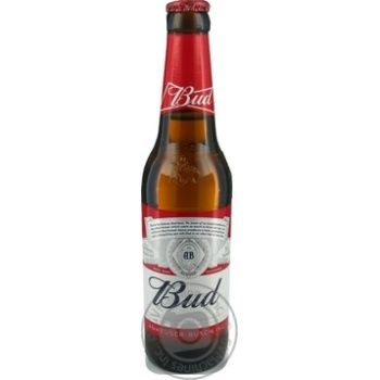 Пиво Bud светлое 5% 0,33л стекло