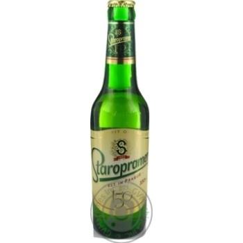 Пиво Staropramen светлое 0,33л стекло