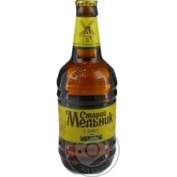 Пиво Старий Мельник з діжки Світле 0,45л
