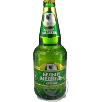 Пиво Белый медведь светлое 4,9% 0,45л